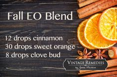 Fall EO Blend #aroma