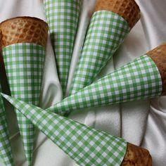 Gingham ice cream cones :)