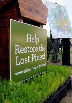 Texas Parks and Wildlife  Today kicks off a campaign to plant 4 million trees in the Lost Pines forest devastated by last year's wildfire.