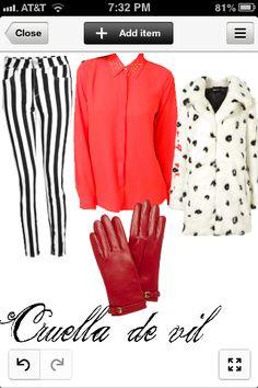 Cruella de vil disney inspired outfit i made this myself❤