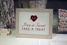 Love is Sweet Candy Buffett Sign by www.icandothatdesign.com