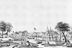 Early picture of the Stockton settlement at one time referred to as Tuleburg and Mudville.