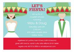 Fiesta Wedding Brunette Invitation