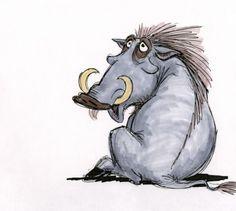 Pumbaa early sketch