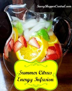 Summer Citrus Energy Infusion Water