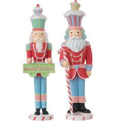 Candy colored nutcracker set retired from the RAZ collection