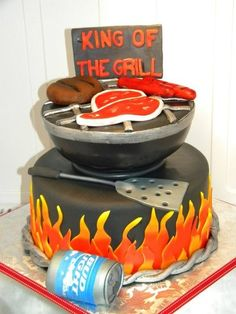 cake design, cakes, food, fanci cake, bbq grill