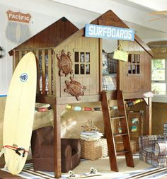 forget the bunk beds... go for a surf shack loft!