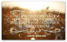 Start everyday new