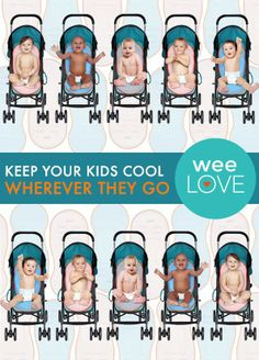 This cool stroller pad features a safe, water-based cooling gel that keeps your kiddo comfy by absorbing and releasing heat. Just grab and go. | Want to get weeLove in your inbox? www.wee.co/weelove