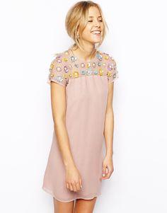 ASOS Floral Embellished Dress http://asos.to/1mAtSP8