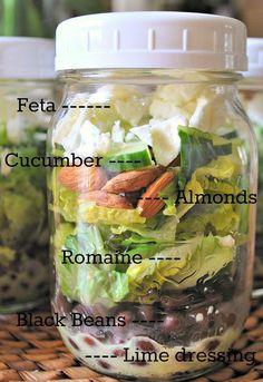 Easy peasy salad in a jar.