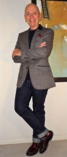 Gianni Feraud blazer, French Connection pullover, Naked + Famous WeirdGuy Indigo Selvedge Jeans, Rockport loafers…  #menstyle #menswear #menscouture #mensfashion #instafashion #fashion #hautecouture #sartorial #sprezzatura #style #dapper #dapperstyle #pocketsquare