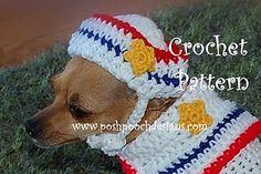 dog s2hatcpasmall2, dog dog, crochet pattern, sailor dog