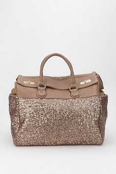 Deux Lux Sequin Weekender Bag --> IIIII wouldn't kick this out of my closet.