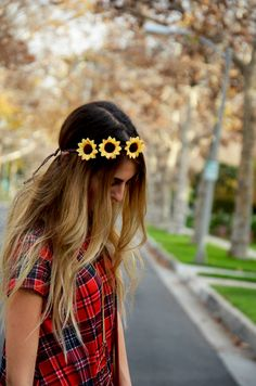 Sunflower headband.