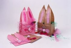 easter bunny paper bag bunny basket
