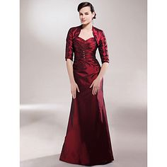 A-line Sweetheart Floor-length Taffeta Mother of the Bride Dress With A Wrap  – USD $ 149.99