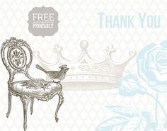 Free Printables- Gorgeous Thank you cards