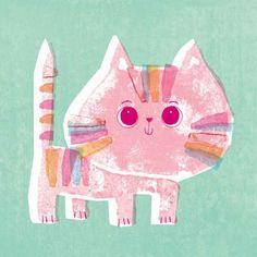 print & pattern cute kitten