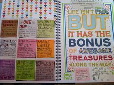 art journal, books, craft, smash book page ideas, smashbook, sticki note, smash book pages, scrapbook, diy