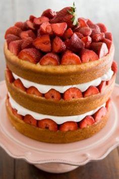 Strawberry Tall Cake-Paula Deen