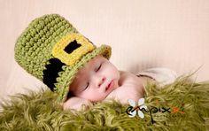 Little Lucky Leprechaun Newborn Hat and Cape - Baby Leprechaun Hat and Cape. $34.85, via Etsy.