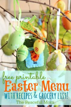 Save Money with this Free Easter Menu with recipes and printable shopping list! - The Peaceful Mom #SaveMoney