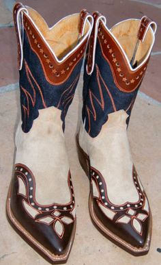cowgirl bootsshoesbelt, cowgirls, accessori, handmad denim, leather boots, white, cowboy boot, cards
