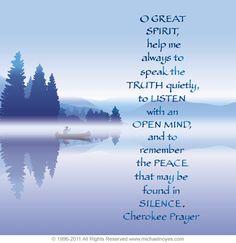 Beautiful Cherokee prayer