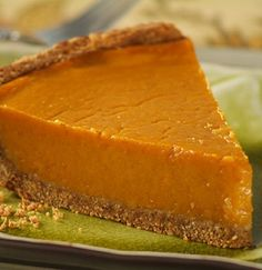 WW Pumpkin Pie-This is a healthy Weight Watchers 7 PointsPlus+ recipe.