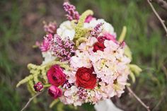 Fab rose-hued bouquet by @Emerson EventsandDesign. Photo by BRC Photography. #wedding #bouquet #pink #blush #red #wine #lavender #purple