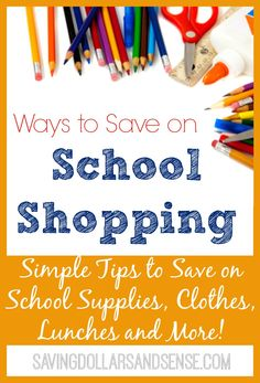 List of ways to save on your Back to School Shopping Costs. #SavingDollars