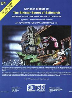 U1 The Sinister Secret of Saltmarsh (1e) | Book cover and interior art for Advanced Dungeons and Dragons 1.0 - Advanced Dungeons & Dragons, D&D, DND, AD&D, ADND, 1st Edition, 1st Ed., 1.0, 1E, OSRIC, OSR, Roleplaying Game, Role Playing Game, RPG, Wizards of the Coast, WotC, TSR Inc. | Create your own roleplaying game books w/ RPG Bard: www.rpgbard.com