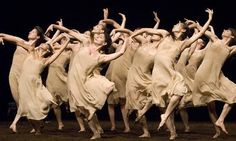 A bevy of dancers in motion