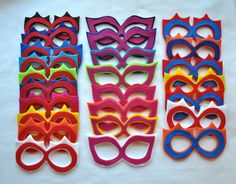 Superhero accessory set - power cuffs and mask. $18.00, via Etsy.