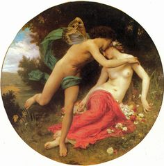 Cupid and Psyche - 1875, Bouguereau