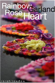 sarah london - pattern available - heart garland