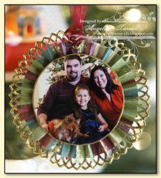 Photo Rosette Ornaments