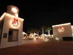 Bonita Springs Florida Holiday Christmas Decorations at Riverside Park in Downtown Bonita Springs, Florida.