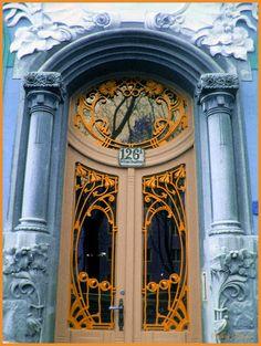 fin de, doors, houses, portal, vienna austria, nouveau style, entrance, art nouveau, de siècl
