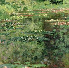 The Waterlily Pond by Claude Monet, 1904 #art #painting