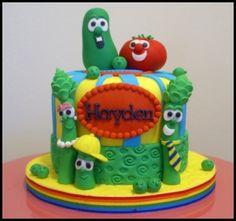 Awesome VeggieTales cake