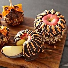 Caramel, then chocolate, then nuts -Fall food