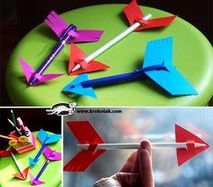 как да си направим моливи стрелички