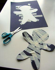 Easy mummy craft for preschool