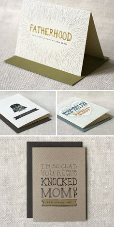 Father's Day cards by Wit & Whistle
