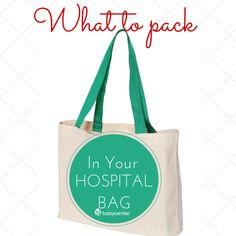 Top 10 hospital bag items for pregnant moms (plus great suggestions in the comments.) #BabyCenterBlog