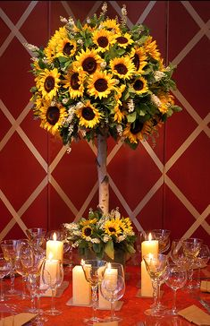 Sunflower Centerpiece Option