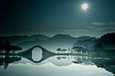 The Moon Bridge In Taipei, Taiwan